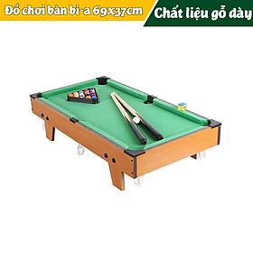 Đồ chơi bàn Bi-A bằng gỗ cỡ lớn 69x37cm Table Top Pool Table TTP-69 cho cả người lớn và trẻ nhỏ - Hàng chính hãng