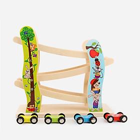 Bộ đồ chơi gỗ xe cầu trượt