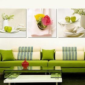 Tranh Canvas treo tường nghệ thuật | Tranh bộ nghệ thuật 3 bức | HLB_263