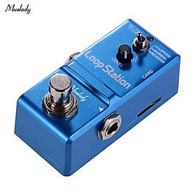 Muslady Loop Station Mini Guitar Looper Effect Pedal 10 Minutes Recording Time 3 Working Modes True Bypass Full Metal