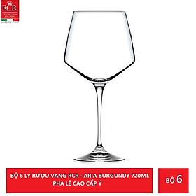 Bộ 6 ly rượu vang pha lê Ý RCR Aria Burgundy 720ml