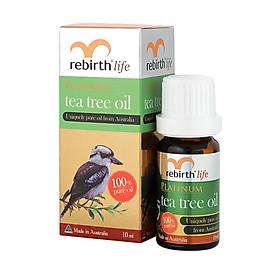 Tinh Dầu Tràm Trà Rebirth Tea Tree Oil giảm mụn, mờ thâm 10ml (Hàng công ty)