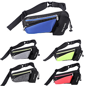 Unisex Waist Bag Waterproof Large Capacity Adjustable Strap Zipper Reflective Stripe Climbing Hiking Sports Bag Waist-5