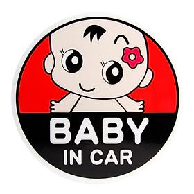 Sticker Cảnh Báo Dán Ô Tô Phản Chiếu Cao Baby in Car (15x15cm)