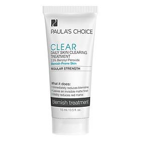 Gel Hỗ Trợ Điều Trị Mụn Paula's Choice Clear Regular Strength Daily Skin Clearing Treatment With 2.5% Benzoyl Peroxide (15ml)