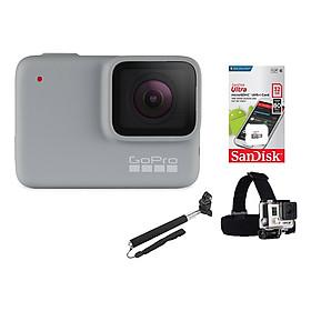 Combo GoPro Hero 7 White + Thẻ Nhớ 32GB + Dây Đeo Đầu + Gậy Cầm Tay & Mount Gắn - Hàng Chính Hãng