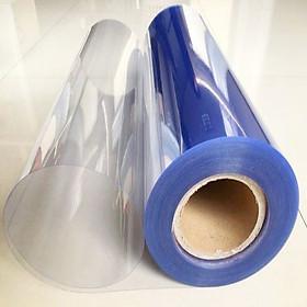 Màng nhựa PVC trong suốt loại cứng - kính nhựa làm tấm che, vách ngăn trong suốt - khổ 80cm