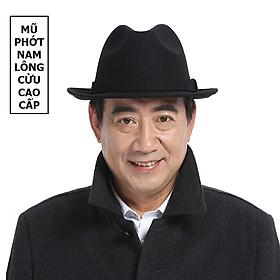 Mũ phớt nỉ nam trung niên vành rộng 4.5cm MP005 - Tặng đế giữ form mũ