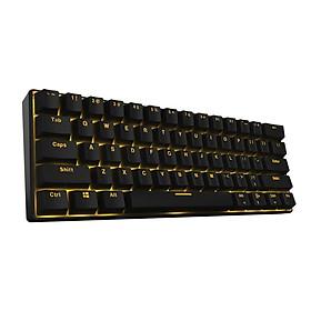 Bàn phím cơ không dây RK61 Royal Kludge Black Switch -  61 phím, nhỏ, gọn nhẹ, cực kỳ tiện dụng, dễ dàng mang theo. Hai chế độ có dây và Bluetooth-3471- Hàng nhập khẩu