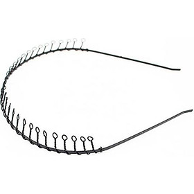 Bờm cài tóc nam - nữ mầu đen xoắn răng lược bằng sắt siêu bền BN41