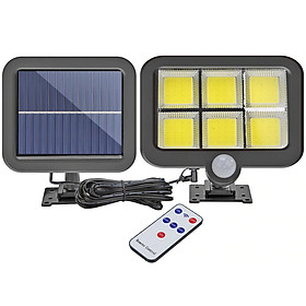 Đèn năng lượng mặt trời 120 LED COB cảm biến chuyển động, cảm biến ánh sáng - Có Điều Khiển
