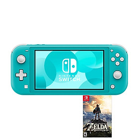 NINTENDO SWITCH LITE - KÈM GAME ZELDA BREATH OF THE WILD - TURQUOISE - HÀNG NHẬP KHẨU