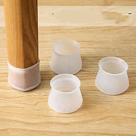 Bộ 4 Miếng silicone dày bọc chân bàn ghế chống trượt không gây tiếng ồn