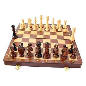 Bộ cờ vua bằng gỗ óc chó cao cấp tặng kèm quân hậu size 39cm và 45cm - HÌNH CHỤP THẬT