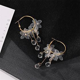 Khuyên tai bông tai hoa thả hạt nước trong trang sức nữ xinh xắn dễ thương