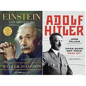 Bộ Sách Chân Dung 2 Nhân Vật Nổi Tiếng Của Nước Đức Thế Kỷ 20 ( Einstein: Cuộc Đời Và Vũ Trụ + Adolf Hitler: Chân Dung Một Trùm Phát Xít ) tặng kèm bookmark Sáng Tạo