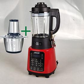Máy Làm Sữa Hạt Xay Nấu Cao Cấp đa năng 2 in 1, Tặng Kèm Máy Xay Thịt Inox 250W và chai dầu tràm hoa nén