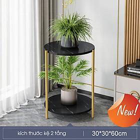 Bàn 2 tầng mini để cây cảnh phòng khách  mặt bàn chống nước  - Hàng chính hãng