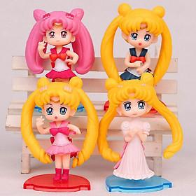 Bộ 04 Mô Hình Thủy Thủ Mặt Trăng - Sailor Moon