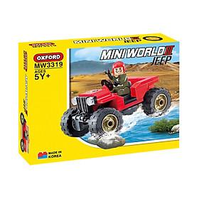Mô hình lắp ráp Chính hãng Hàn Quốc - Xe Jeep địa hình Oxford MW3319 - 85 mảnh ghép dành cho bé 6 tuổi trở lên