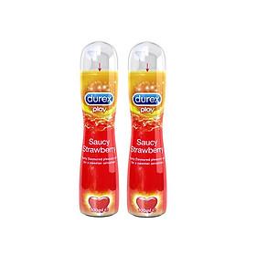 Bộ 2 Gel bôi trơn Durex Play Strawberry 100ml / chai