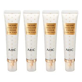 Kem Dưỡng Da Vùng Mắt Và Mặt AHC The Pure Real Với Thành Phần Axit Hyaluronic Làm Trắng, Chống Vết Nhăn (4 Chai x 30ml)