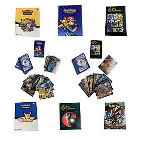 Bộ Thẻ Bài Pokemon 60 Thẻ Cao Cấp Nhiều Loại