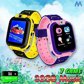 Đồng hồ Điện thoại có 7 GAME Giải trí, Hỗ trợ Thẻ nhớ 32G Music, lắp Sim không cần Đăng ký 4G, Thêm danh bạ dễ dàng không cần ứng dụng - Hàng nhập khẩu