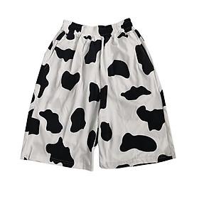 Quần Đùi Short loang bò sữa unisex nữ – – QS134