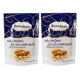 Hình đại diện sản phẩm Combo 2 Gói Đậu Phộng Lột Vỏ Chiên Muối Bean Bean (100g / Gói)