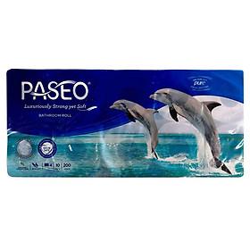 Giấy Vệ Sinh Paseo Dolphin (10 Cuộn x 4 Lớp)