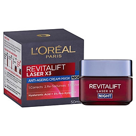 L'Oreal Paris Revitalift Laser x3 Night Cream Mask 50ml