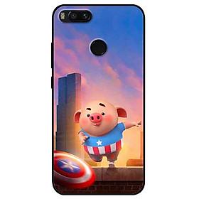 Ốp lưng in cho Xiaomi Mi A1 Mẫu Heo CAP