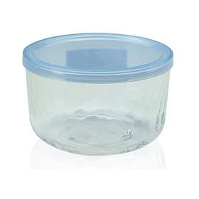 Hình đại diện sản phẩm Hộp thủy tinh kim cương có nắp đậy màu xanh 420ml nội địa Nhật Bản
