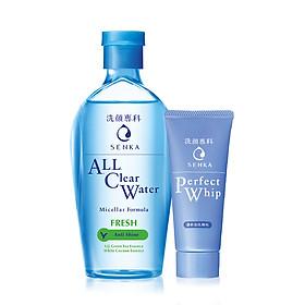 Bộ đôi Senka sạch sâu thoáng mịn (Nước tẩy trang Senka Water Fresh 230 ml + Sữa rửa mặt Senka Perfect Whip 50g)