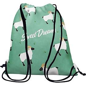 Túi Rút Unisex In Hình Đàn Cừu Sweet Dreams - BDHT028