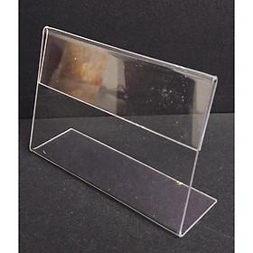 Combo 10 Kệ mica chữ L 9x6cm để bảng giá