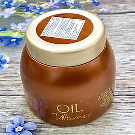 Dầu hấp ủ Schwarzkopf OIL Ultime Argan & Barbary Fig Oil Cream Treatment chăm sóc tóc to sợi thô cứng 500ml