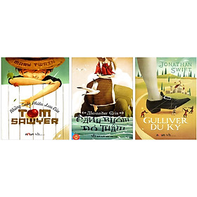 Combo Những Cuộc Phiêu Lưu Của Tom Sawyer + Gulliver Du Ký + Cánh Buồm Đỏ Thắm