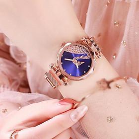 Đồng hồ thời trang nữ đeo tay dây từ nam châm thiên nga lấp lánh DH94