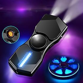 Hột Quẹt Bật Lửa Hồng Ngoại Kiêm Đèn Pin Sạc Điện USB Kiểu Dáng Spinner Tạo 12 Hiệu Ứng Đèn Led(màu ngẫu nhiên) - Video Review