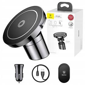 Đế giữ điện thoại tích hợp sạc không dây Baseus Big Ears Car Mount Wireless Charger- Hàng chính hãng