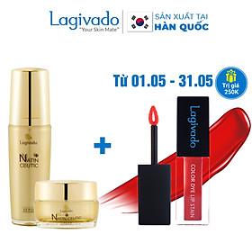 Bộ đôi trẻ hóa da, giảm nám tàn nhang Hàn Quốc Lagivado Natin Ceutic (Serum Ceutic 50 ml + cream Ceutic 50g)