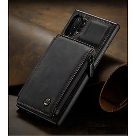Ốp Lưng Da Bò Thật Chính Hãng CaseMe Kèm Ví Chống Sốc Cho Samsung Galaxy Note 10 Plus - Hàng nhập khẩu