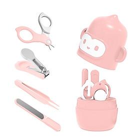Baby Nail Clipper Set with Monkey Storage Box Newborn Nail Clipper Scissors File Tweezers Infant Nail Care Set Nursery