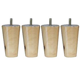 4pcs 4'' 5'' 6'' 8'' Solid Wood Taper Sofa Legs Cabinet Chair Furniture Feet