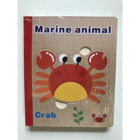 Sách gỗ ghép hình chủ đề nghề nghiệp, rau củ, sinh vật biển
