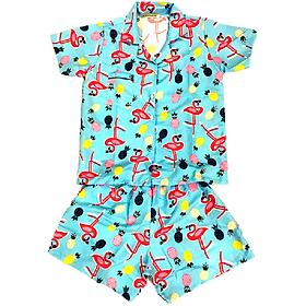 Đồ Mặc Nhà (Ngủ) Pijama Thái Vải Kate PijamaThaiKate50 - Xanh Dương Đậm