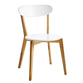 Ghế bàn ăn JYSK Jegind gỗ công nghiệp màu tự nhiên/trắng 45x79x50cm