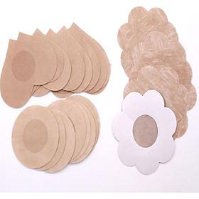 30 Miếng Dán Nhũ Hoa Dán Ngực Hoa Mai Vải Cotton Mềm Thấm Hút Mồ Hôi ( 15 cặp )